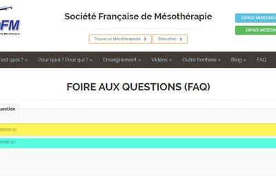 Mesotherapie : les FAQ du site web SFMESOTHERAPIE sont là pour vous apporter des reponses concretes !