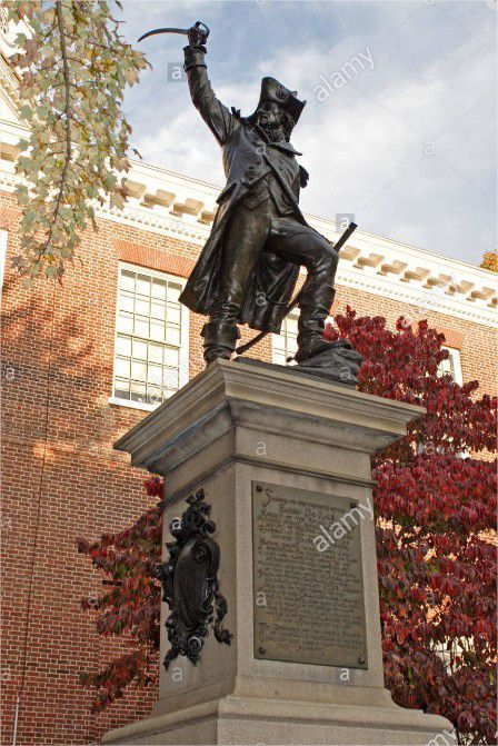 Statue de de Kalb à Annapolis, Maryland.