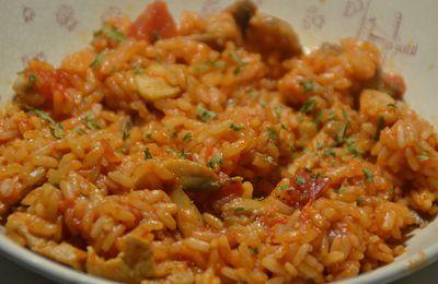 Emincés de porc tomates riz cookeo