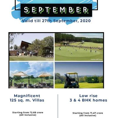 First Time Ever Super September Offers At Godrej Golf Links Greater Noida