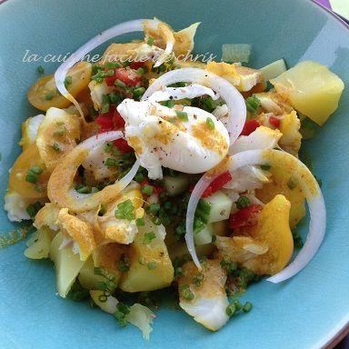 Salade de pomme de terre et dorade pochée