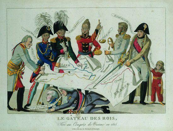 Le gâteau des rois tiré au Congrès de Vienne en 1815 © BnF, Gallica