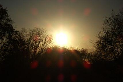 Avoir le soleil de face