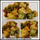 Poêlée de chou romanesco et brocolis au chorizo - La cuisine de poupoule