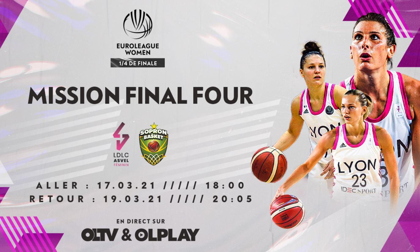 LDLC ASVEL Féminin / Sopron Basket : Comment suivre la rencontre vendredi  ?