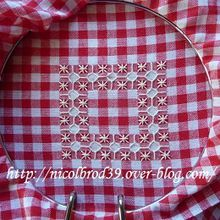 Broderie suisse, coussinet 1