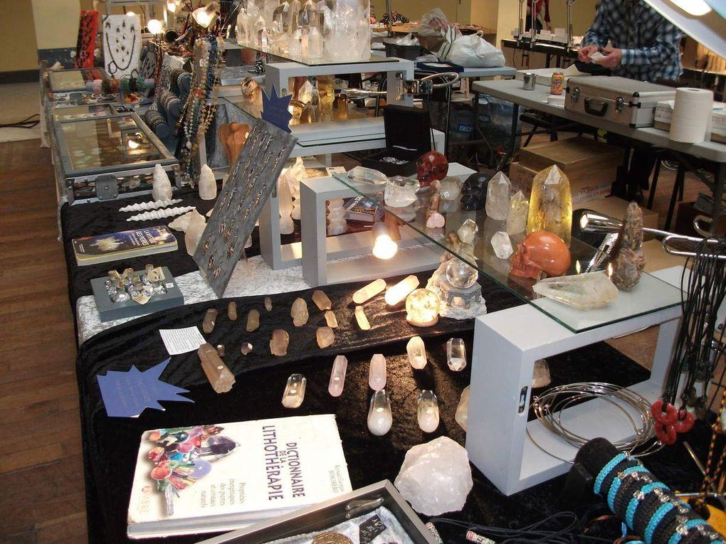 Stand du Comptoir de Dharma Exposition de Minéraux Menton 2012