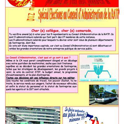 Spécial élections du conseil administration. Votez CGT.