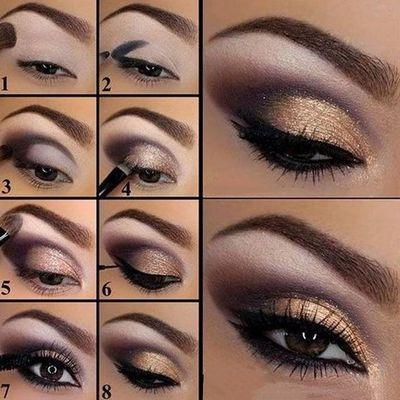 Toque de glamour a tu maquillaje don ojos dorados