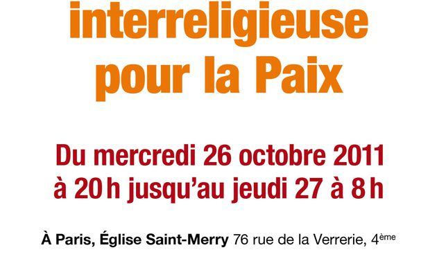Nuit interreligieuse du 26 au 27 octobre 2011