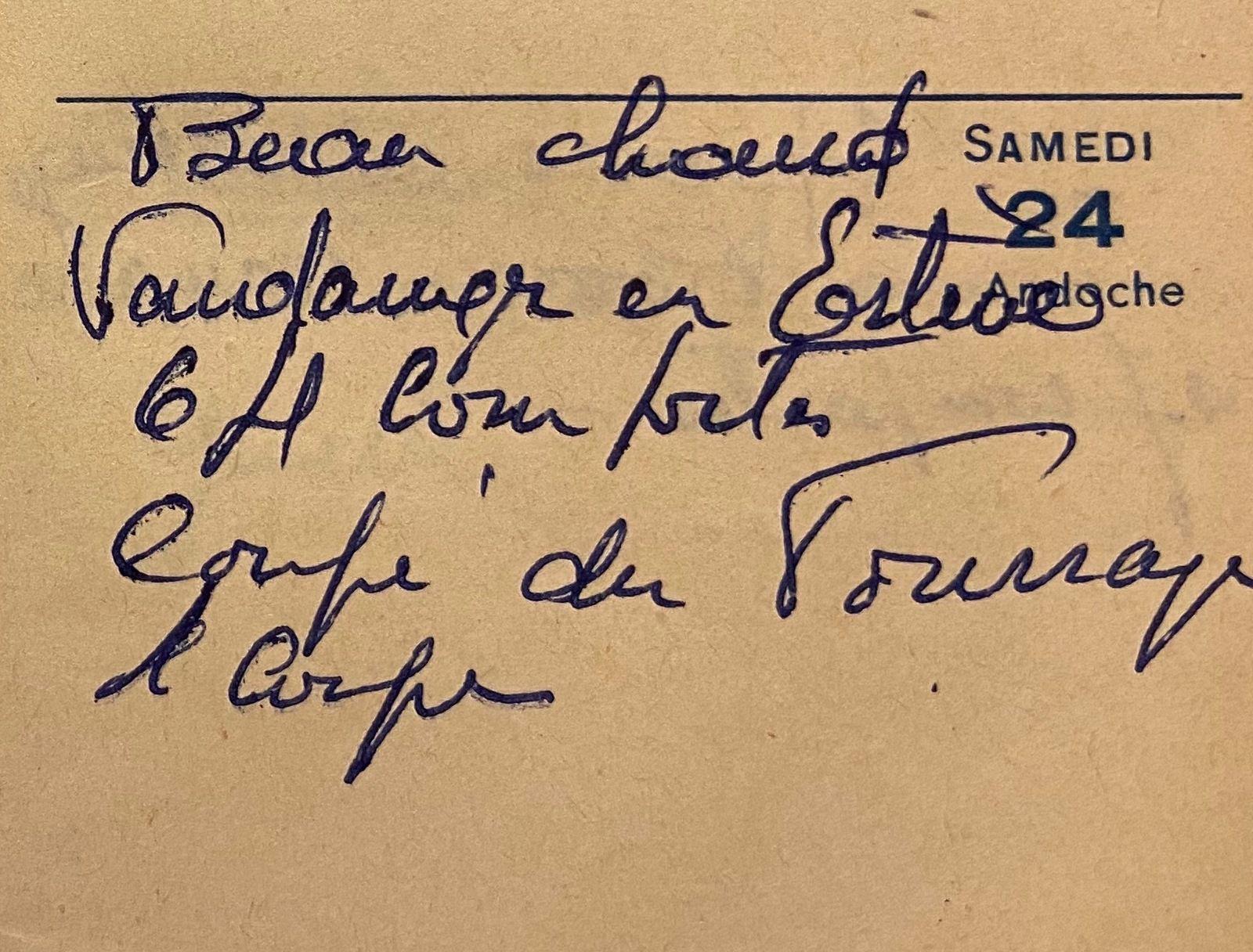 Samedi 24 septembre 1960 - vendanger chez les cousins