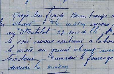 Jeudi 20 septembre 1951 - dépiquer au Matelot