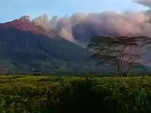 Kerinci - eruptive activity of 17.10.2020 - photo @aksesnews / via Rizal Twitter - one click to enlarge