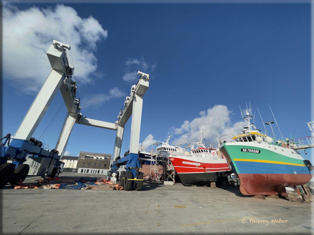 Chantier naval à La Turballe