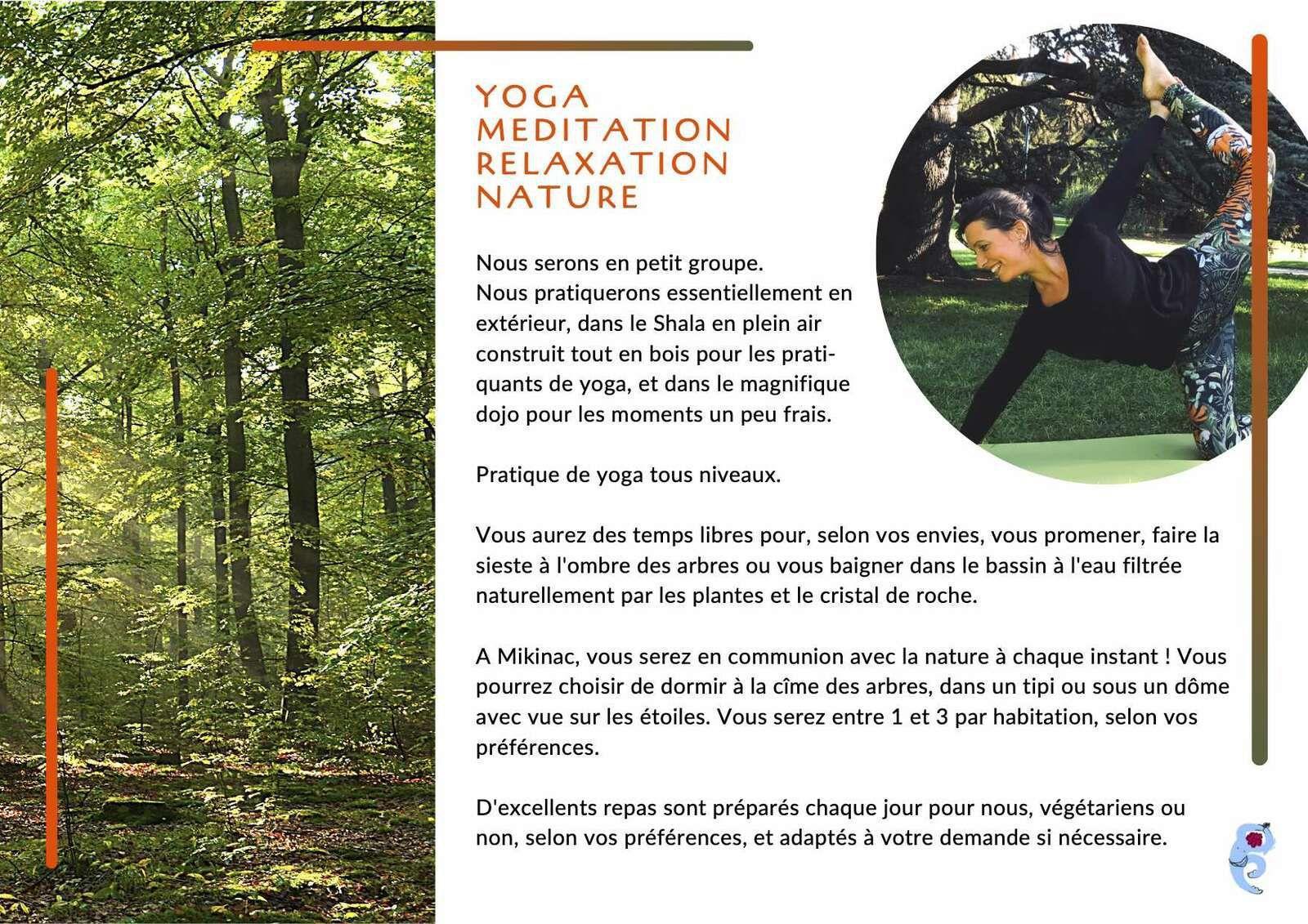 Stage de yoga de la rentrée dans la Drôme
