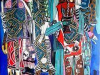"""Street attitude"" Trois toiles de Kristine Tsala"
