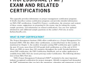 Result of Sample PMP Exam Questions