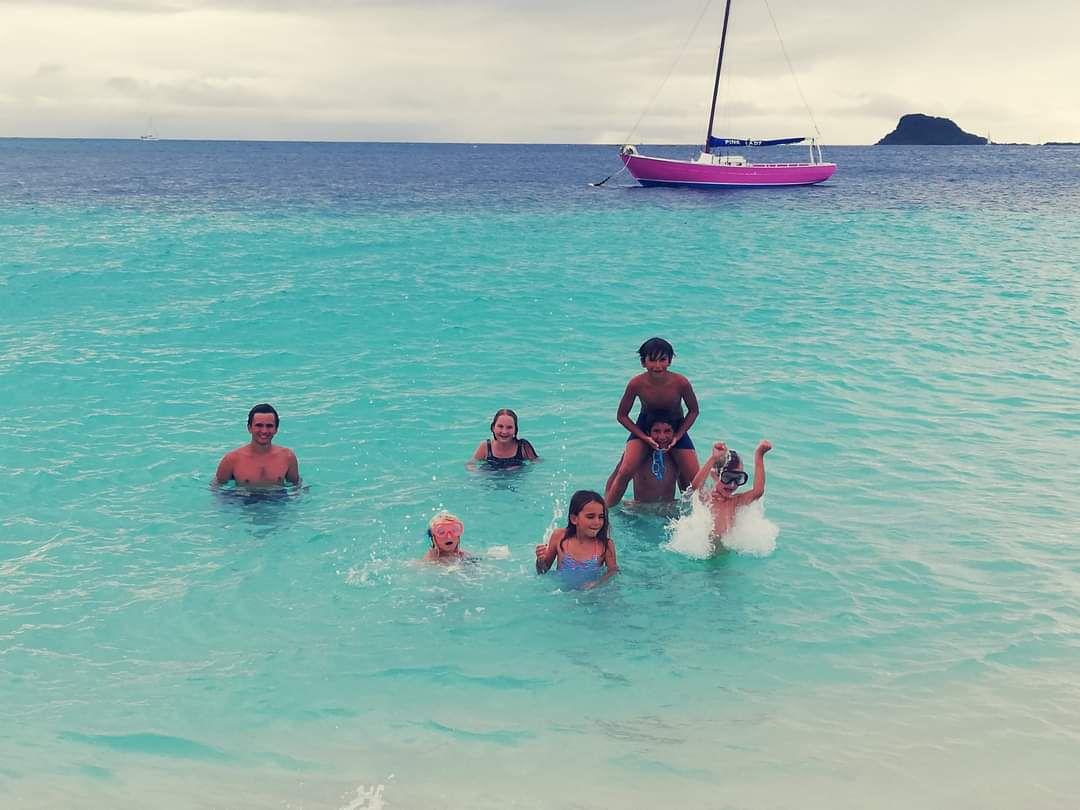 Avec Ferreol et les copains de Tacum à Palm Island