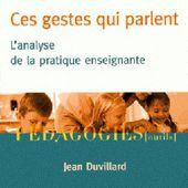 Jean Duvillard : Ces gestes qui parlent
