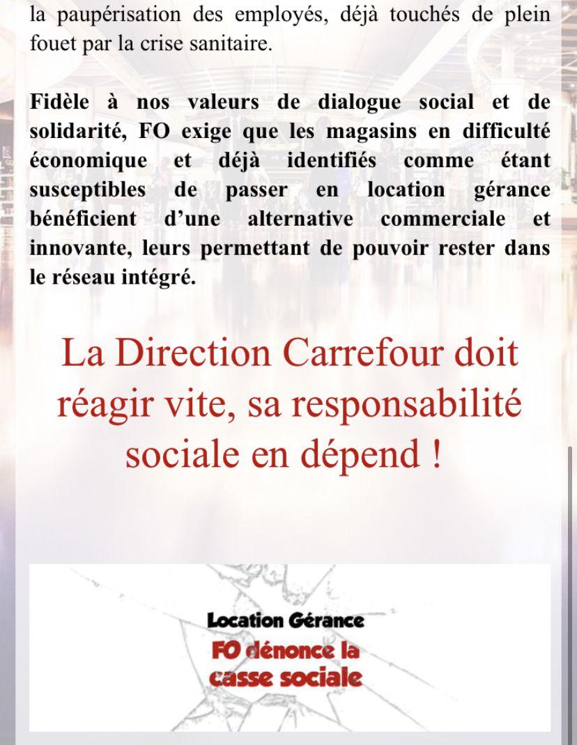 Location Gérance FO dénonce la casse sociale