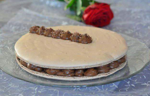 Macaron géant chocolat vanille