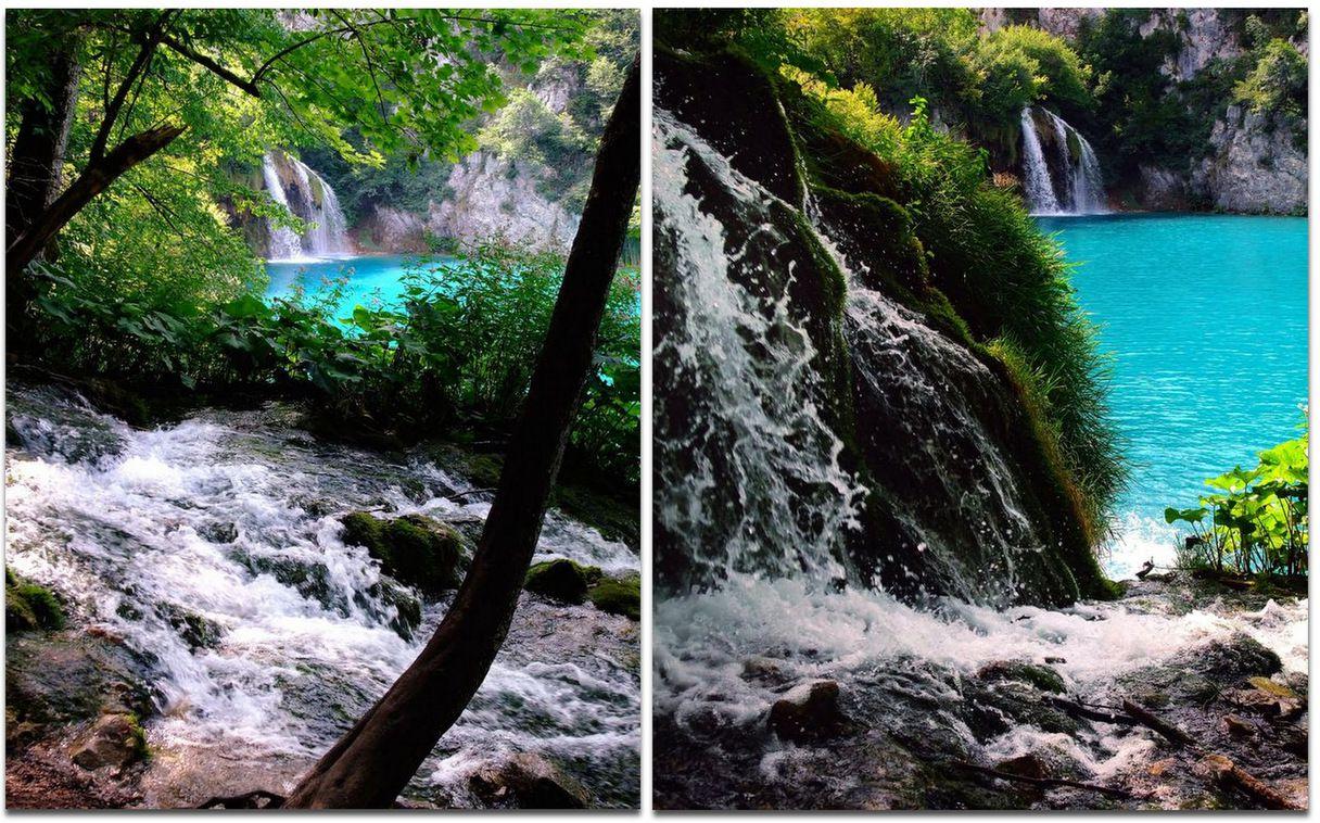 Cascades et plans d'eau des Lacs de Plitvice.