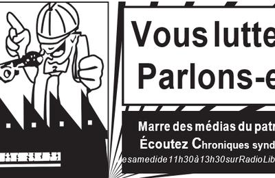 Chroniques syndicales du 20 juin sur Radio Libertaire 89,4 Mhz