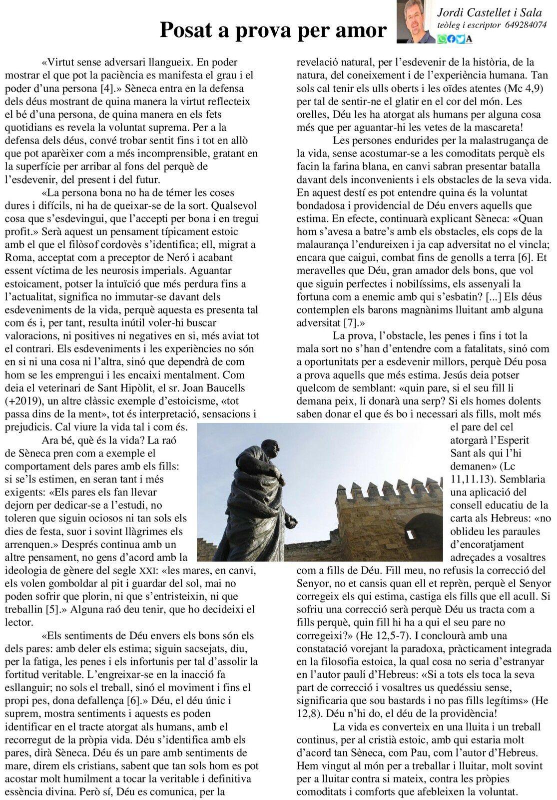 Mossèn Jordi ens diu... (articles en català)