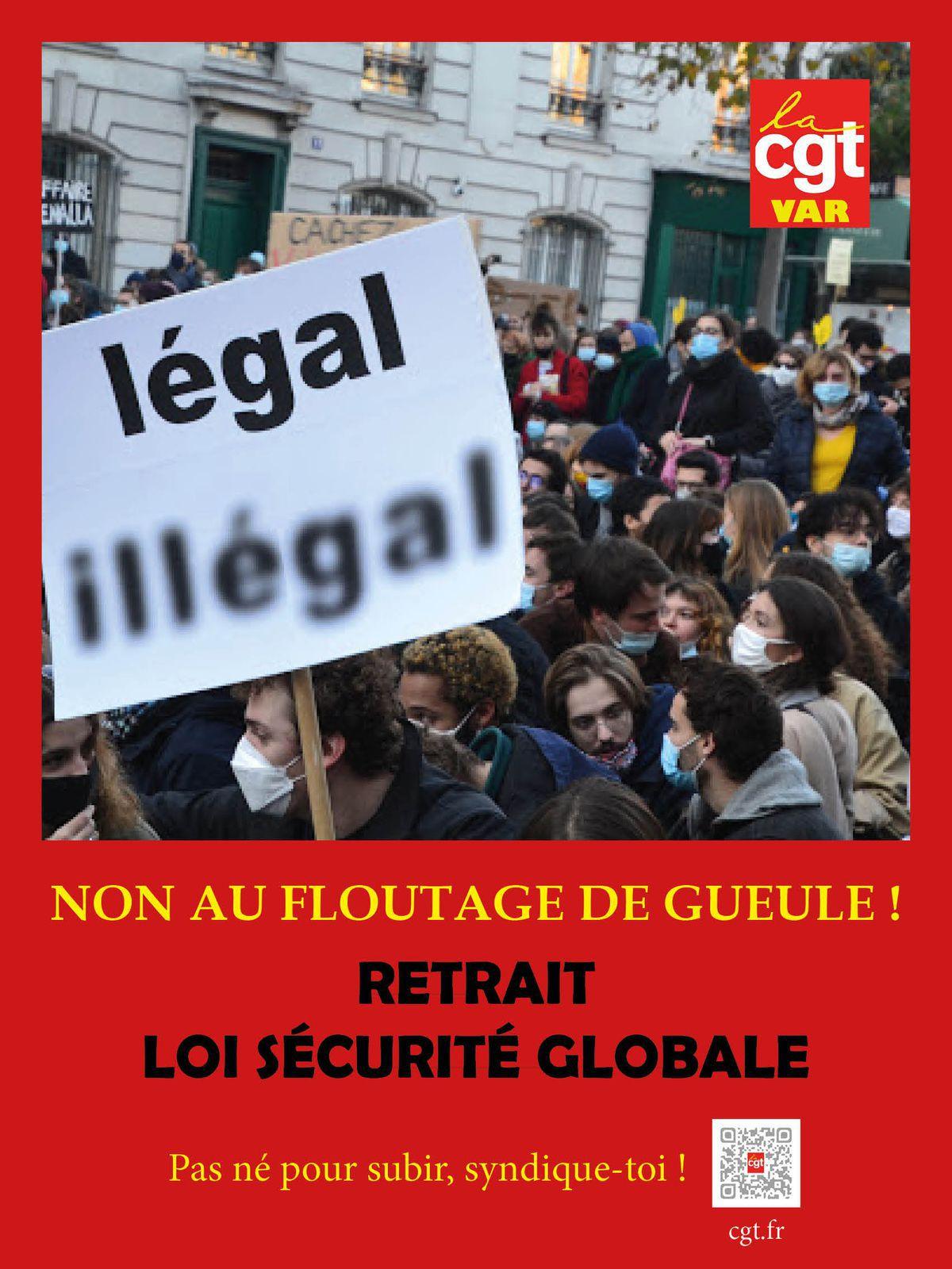 CGT VAR : RETRAIT LOI SECURITE GLOBALE