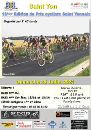 Courses UFOLEP de St Yon (91) le dimanche 25 juillet 2021