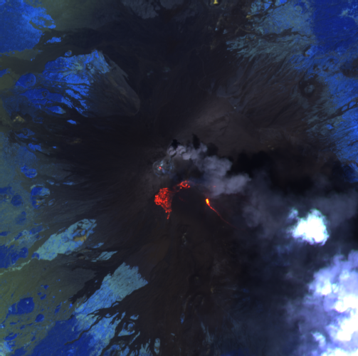Etna summit craters - image Sentinel-2 L1C bands 12,11,8A from 08.10.2021 - one click to enlarge