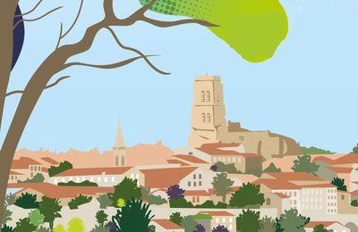 La silhouette de la ville de Lectoure dans la communication