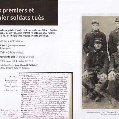 """Nos soldats Irvillacois """"morts pour la France"""" ne sont pas inconnus..."""