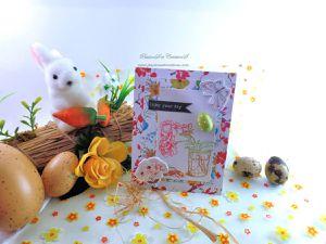 carte - pâques - twist - pop up - oeufs - printemps - fleurs - lapin - enfant - chocolats
