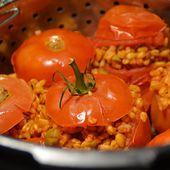 Tomates farcies blé olives recette cookeo |