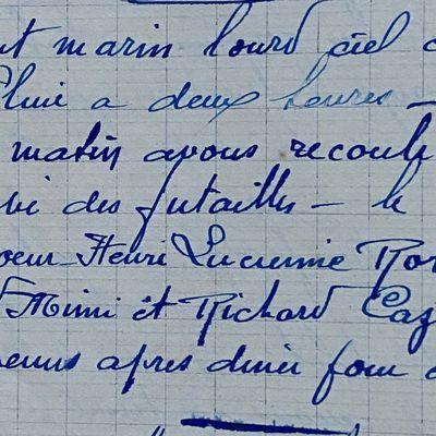 Dimanche 23 septembre 1951 - laver la futaille