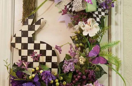 Spring Bunny Wreath,