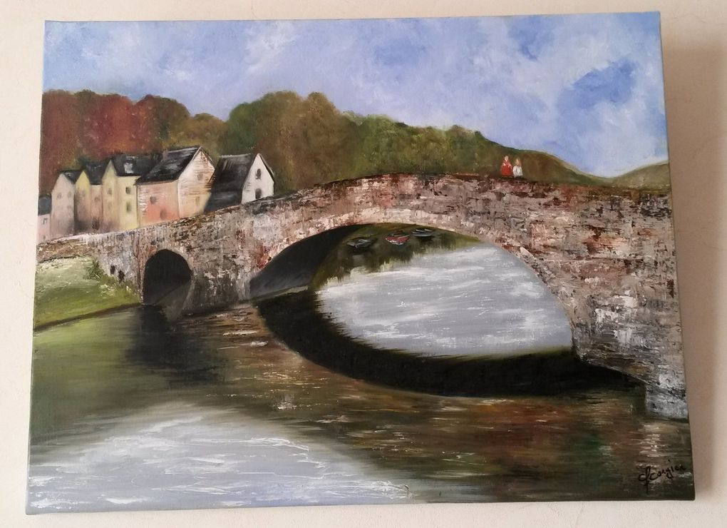 Peinture acrylique et huile sur la Bretagne