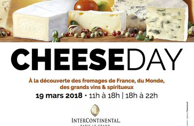 Le 19 mars à l'Intercontinental Paris Le Grand, il y aura du fromage et du vin...