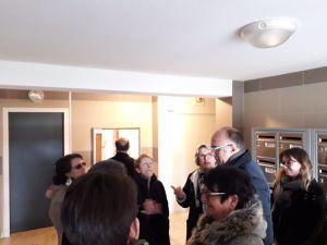19 mars : Visite chantier qualité pour constater la fin des travaux de ravalement de façade et d'entretien des parties communes des résidences J. Millet et Champ de la Cour avec les équipes de Le Mans Métropole Habitat et les représentants des locataires.