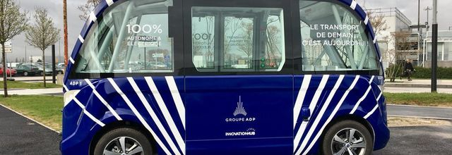 Groupe ADP launches the first trial of autonomous shuttles at a French airport