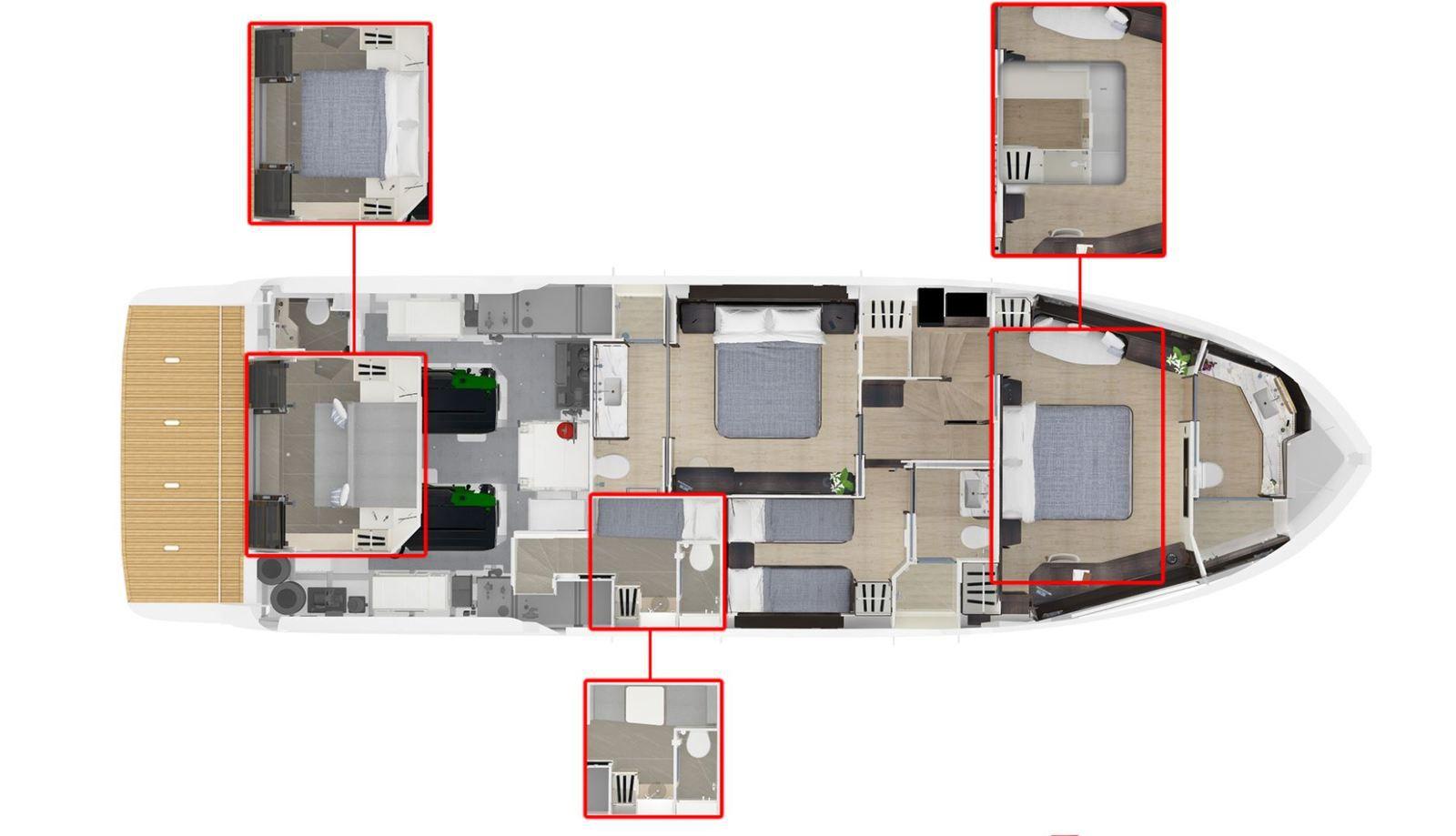 Plans d'aménagement de l'Absolute Navetta 64