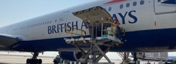 British Airways flies vital medical supplies to Britain, including ventilators and ppe