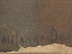 Étienne Soulange Bodin était aussi peintre à ses heures (signature au bas du tableau) - personnage inconnu.