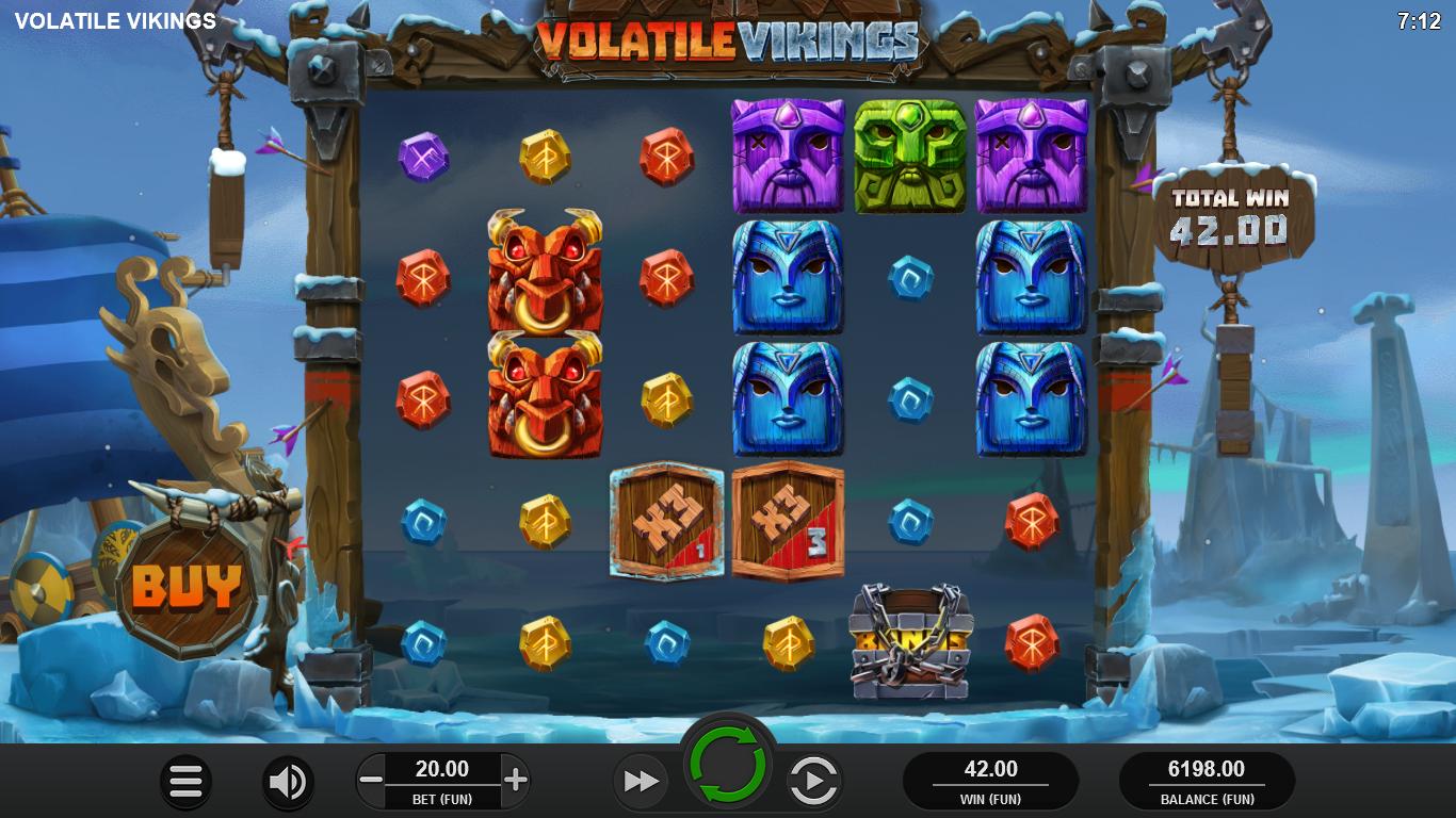 machine à sous en ligne Volatile Vikings grille de jeu