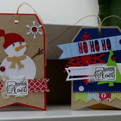 2 tags de Noël