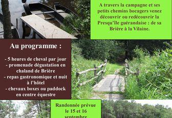 Rando entre Vilaine et Brière les 15 et 16 septembre