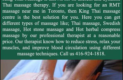 RMT Massage near Me in Toronto by professional massage Therapist: King Thai Massage Centre