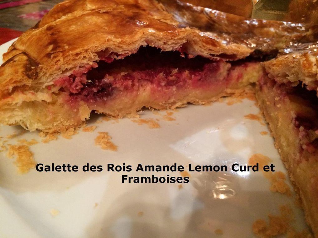 Galette des Rois Amande Lemon Curd et Framboises