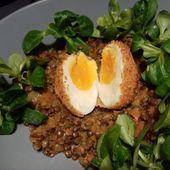 Salade de lentilles à la cannelle et œuf mollet de Cyril Lignac dans tous en cuisine - Mes Meilleures Recettes Faciles